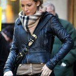 "Blake Lively seen on the set of ""Gossip Girl"" filming at the Empire Hotel on the Upper West Manhattan"