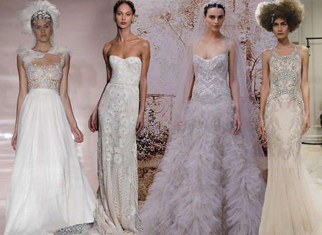 modele romantice de rochii de mireasa